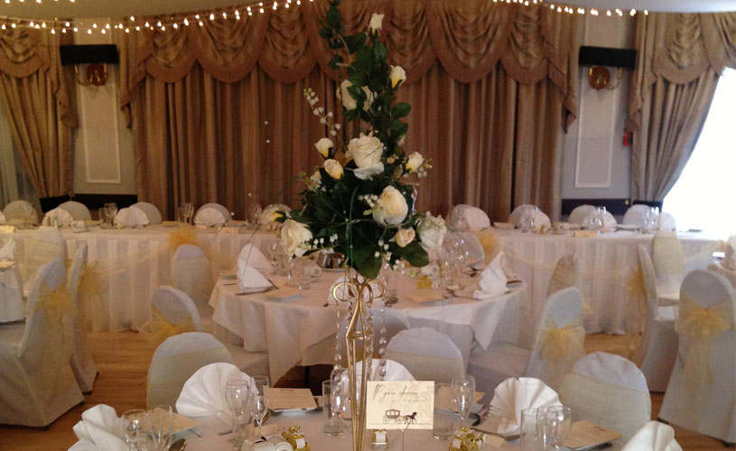 yellow wedding theme at the original rosslyn inn